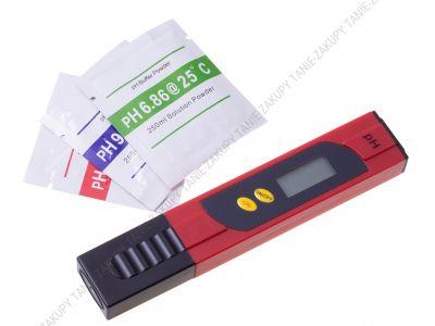 Cyfrowy miernik tester pH wody - czerwony